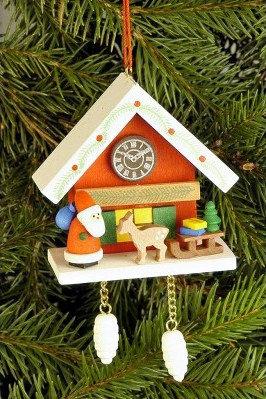 Santa & Sleigh Cuckoo Clock Ornament