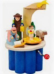 Nativity Crank Music Box