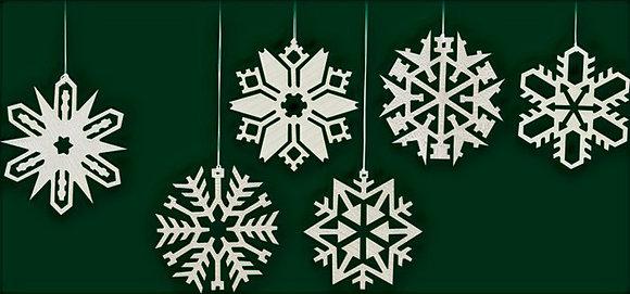 Snow Crystal Ornament Set