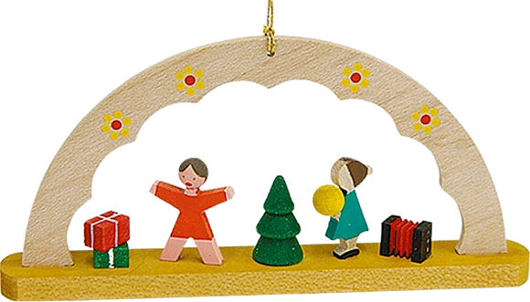 Children Playing Arch Ornament
