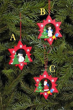 Star w/ Character Ornament