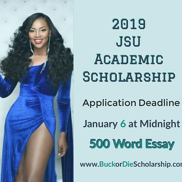Flyer for the 2019 Buck or Die JSU Scholarship