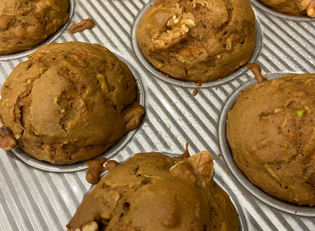The Sweetest Start to a Saturday: Carrot Zucchini Muffins