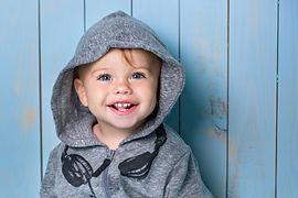 Image of  sweet baby boy, closeup portra
