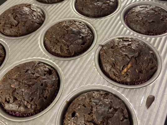 Starting off the School Year Right with Chocolate Zucchini Muffins