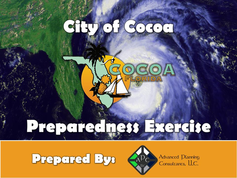 City of Cocoa Preparedness Exercise