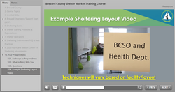 Brevard County Shelter Worker Training Course - Video