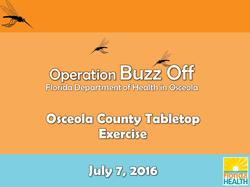 Osceola County Zika TTX