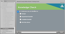 Brevard County Shelter Worker Training Course - Quiz