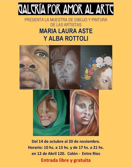 Exposición de María Laura Aste y Alba Rottoli