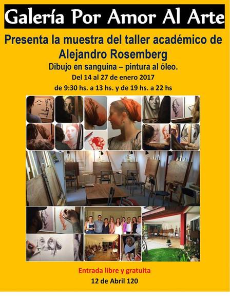 Exposición del taller de pintura académica de Alejandro Rosemberg Enero 2017