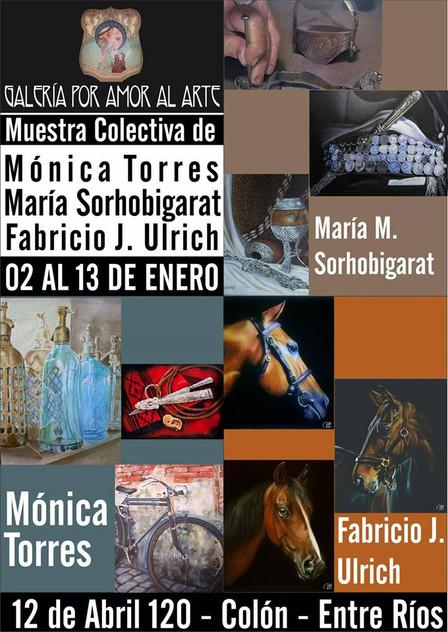Exposición pintura Torres - Sorhobigarat - Ulrich enero 2017