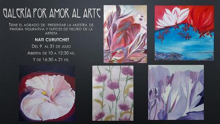 Muestra de pintura decorativa y tapices de fieltro de NATI CURUTCHET