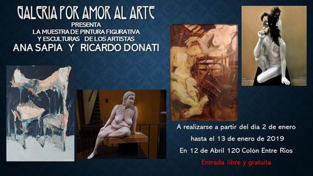 Muestra de  Pintura Figurativa y Esculturas Ana Sapia y Ricardo Donati