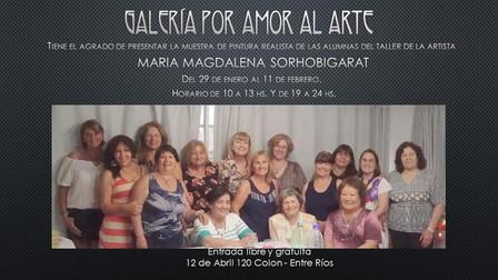 Muestra de Pintura Realista de las alumnas del taller de María Magdalena Sophobigarat