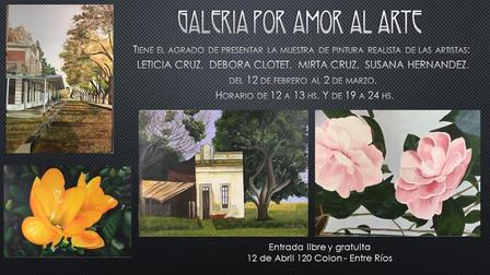 Muestra de pintura figurativa de Leticia Cruz, Mirta Cruz