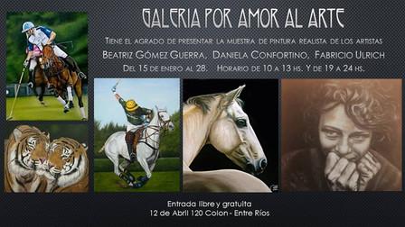 Muestra de pintura Realista de Beatriz Gómez Guerra, Daniela Confortino y Fabricio Ulrich