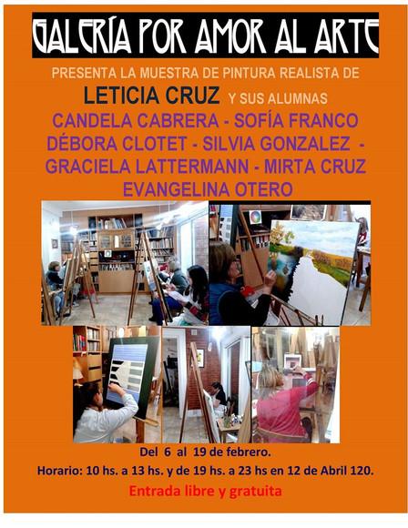 Exposición Taller Leticia Cruz Febrero 2017
