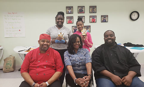 Chopped Cooking Contest judges