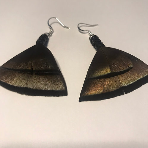 Tsiyi Turkey Feather Earrings
