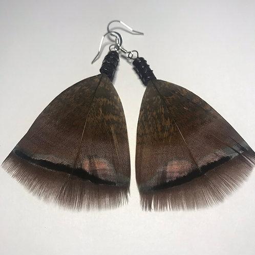 Awinita Turkey Feather Earrings
