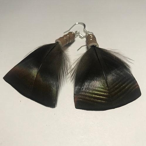 Gola Turkey Feather Earrings