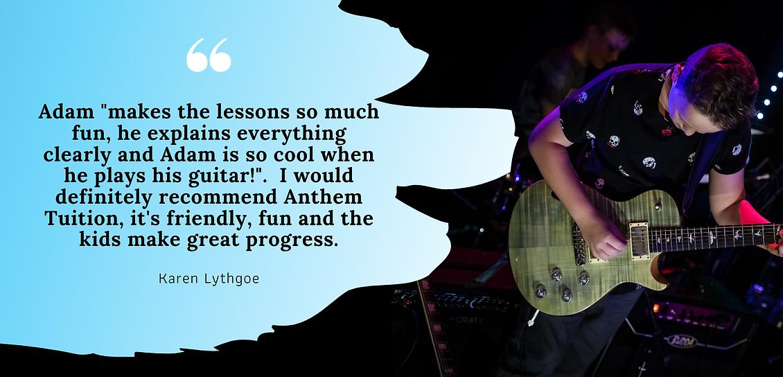 guitar testimonial