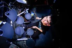 Marley on drums