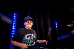 Drum performance at Media City Salford