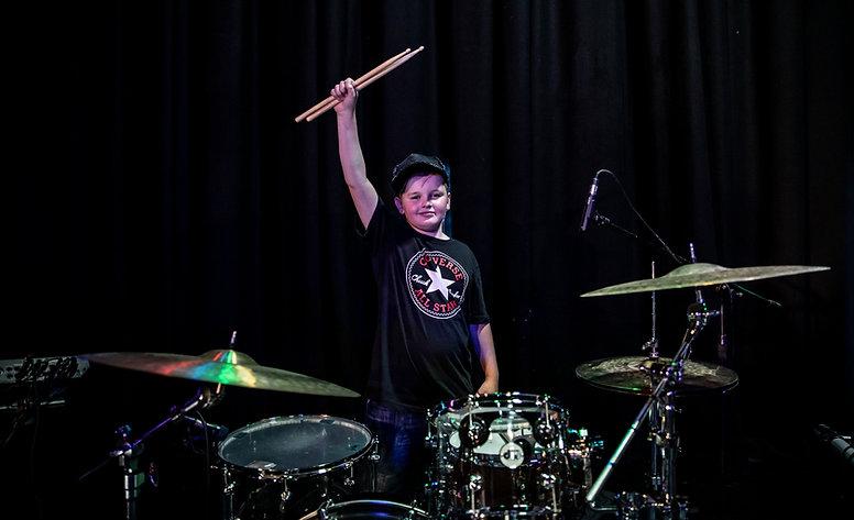 Drummer with sticks