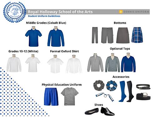 Royal Holloway Academy Uniform Spread (1