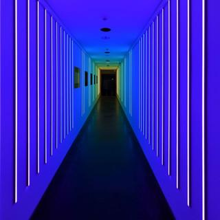 תאורת המסדרון - אור סגלגל כחלחל