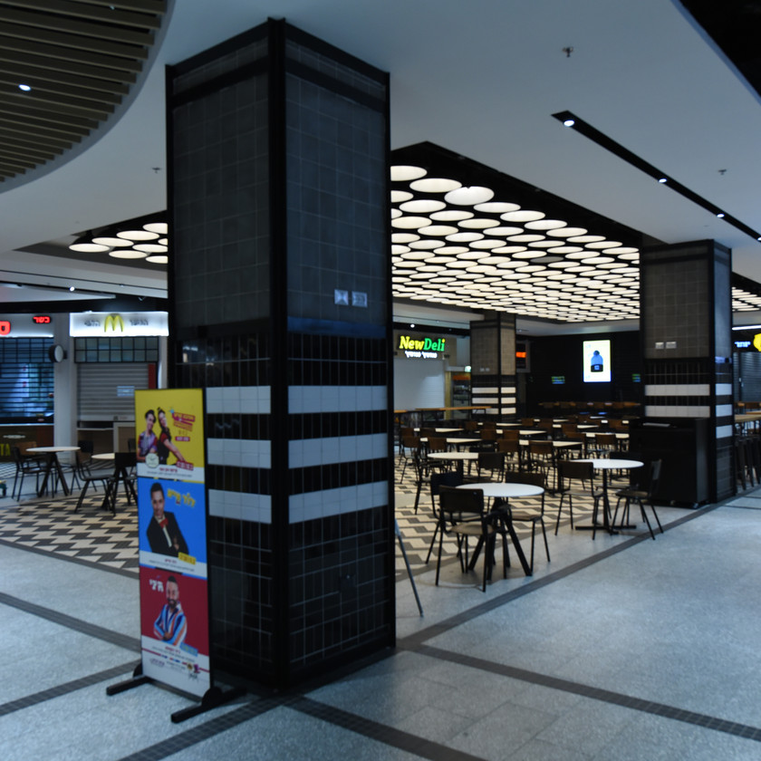 Side view of the dining area