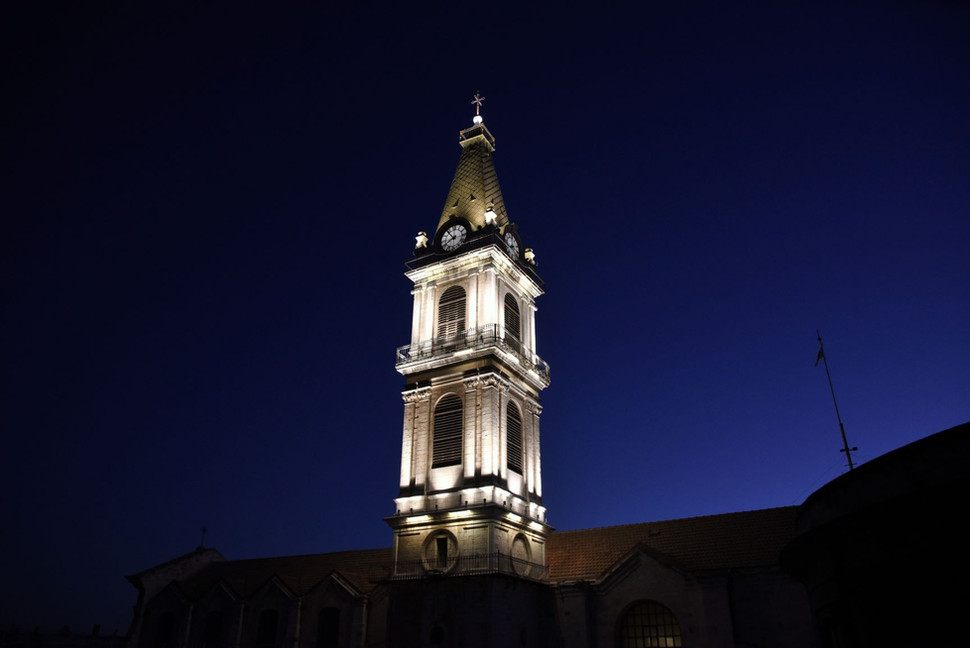 Unique lighting for the San Salvador Monastery Tower
