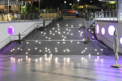 Stair lighting - asymmetrical. Peres Park