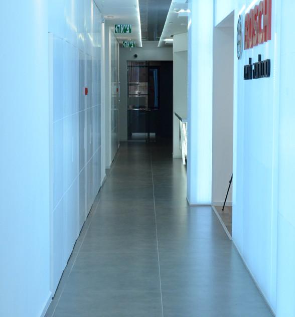 Corridor on display. Bright light