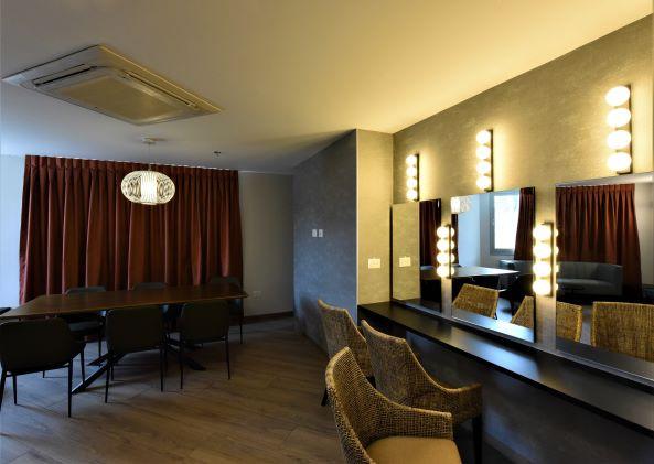 חדרי האיפור של השחקנים. פרשנות מודרנית לעיצוב הקלאסי של תאורת מראות