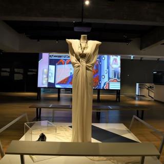 שמלה מוארת באור רך, המדגישה את עיצוב השמלה
