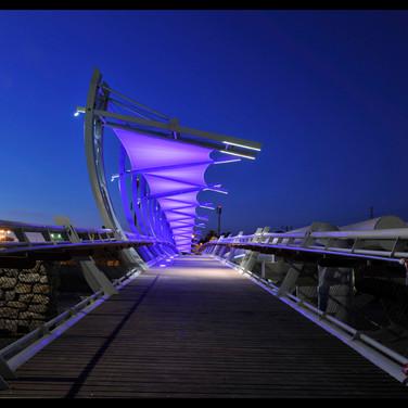 גשר הצינורות | מעל נחל באר שבע