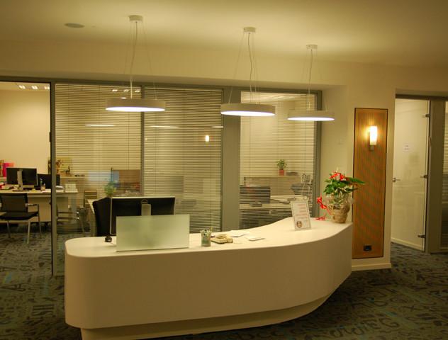 Three light fixtures above counter