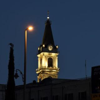 תאורת צריח המגדל והשעון
