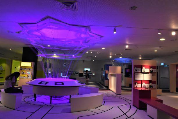 מבט כולל על חלל התערוכה. ספקטרום-צבעי הקשת - בכל אחד מהחללים