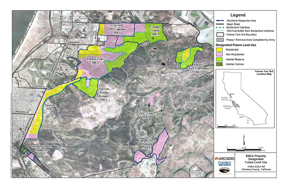Future land use designations for FORA ESCA RP property.