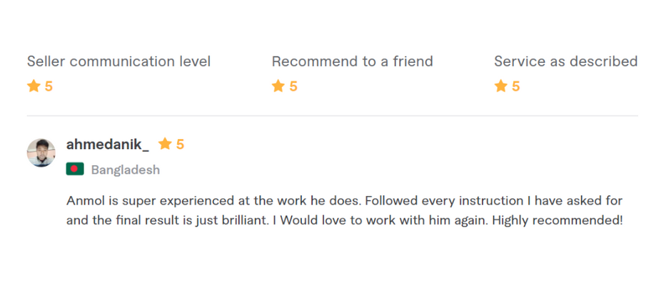 Review From Fiverr