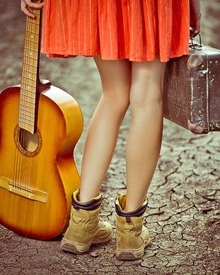 Girl & Gitarre