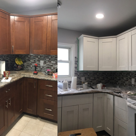 Kitchen Cupboards Before & After