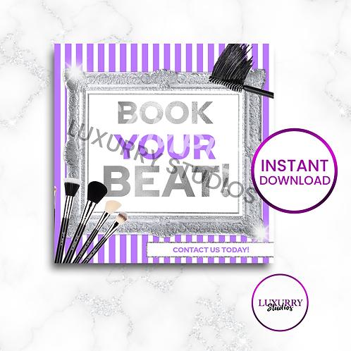 Purple Book Your Beat Makeup Instant Download