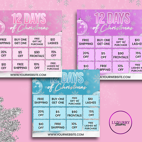 12 Days Holiday Sale Flyer