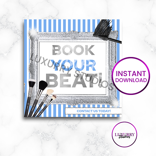 Blue Book Your Beat Makeup Instant Download