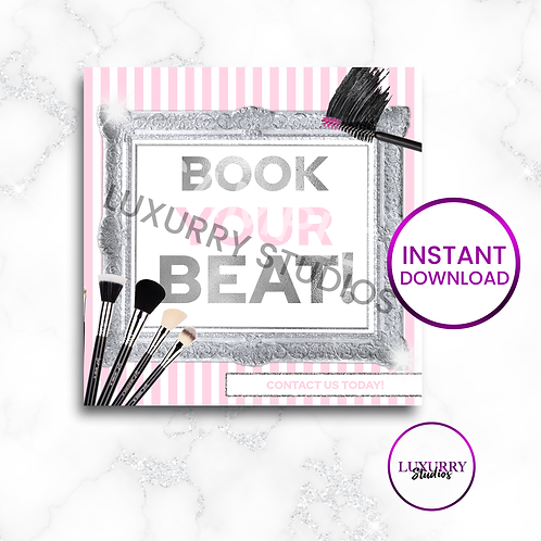 Pink Book Your Beat Makeup Instant Download